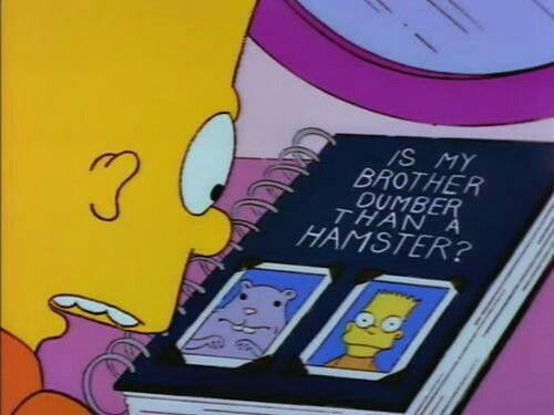 Cuando Te Das Cuenta Que Tu Hermana Te Está Examinando Como Una Rata Los Simpson Los Simpsons La Casita Del Horror V