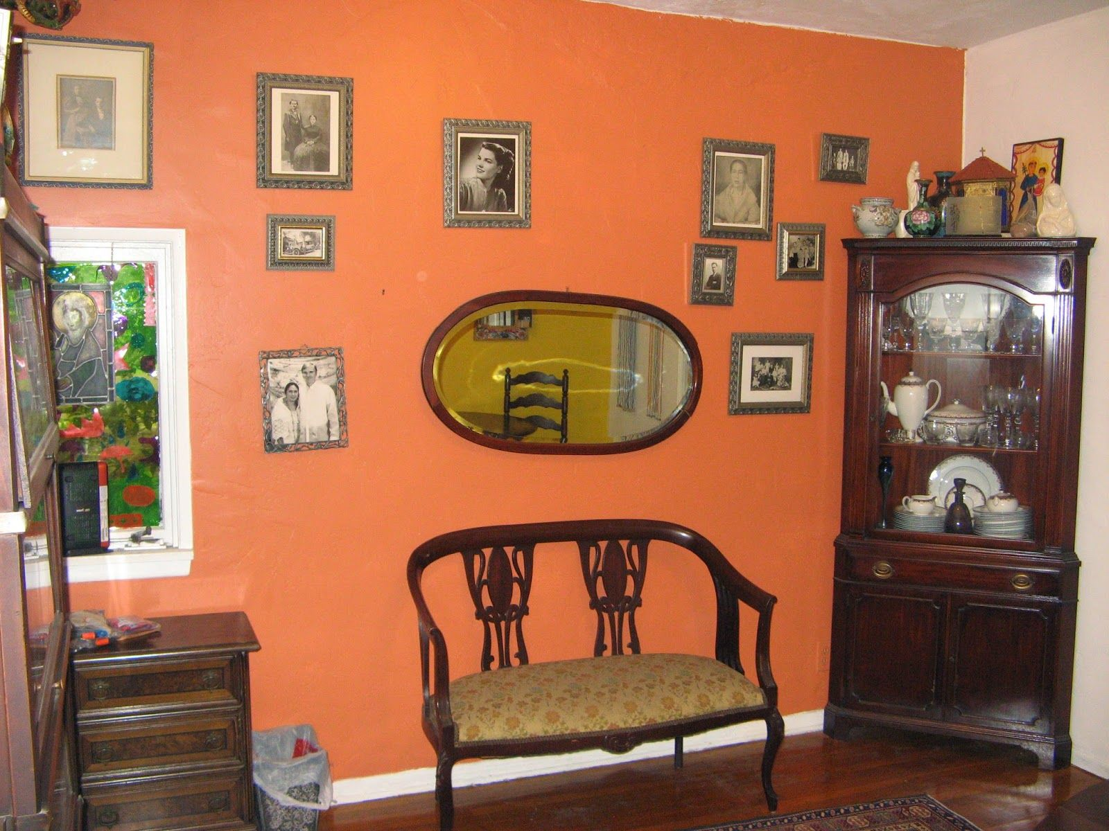 The Brass Deco Frame and My Ancestral Wall