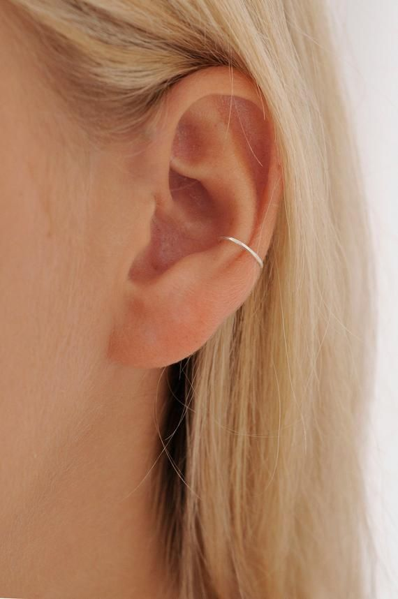 Silver Conch Piercing | Gold Conch hoop | Conch Hoop | Delicate Conch Piercing | Thin Conch Hoop | Hammered Conch Hoop |