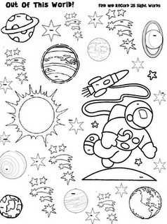 Sight Word Space Adventure Hidden--use Magnifying Glass