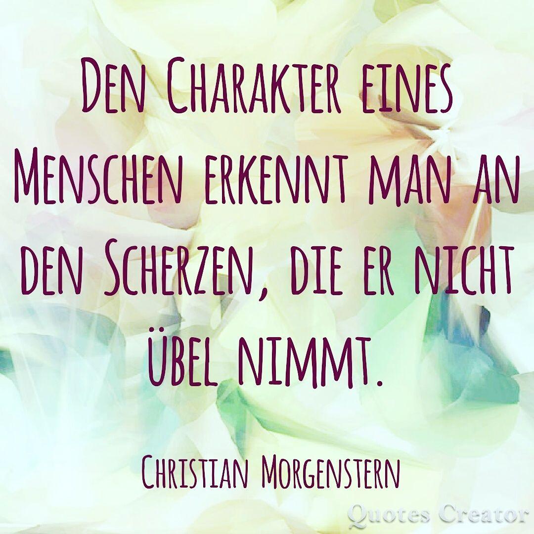 Den Charakter eines Menschen  Christian Morgenstern #Charakter