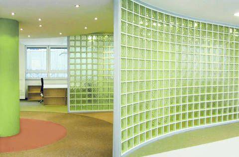 Raumteiler aus Glasbausteinen von SOLARIS | muur idees | Pinterest ... | {Glasbausteine dusche led 91}