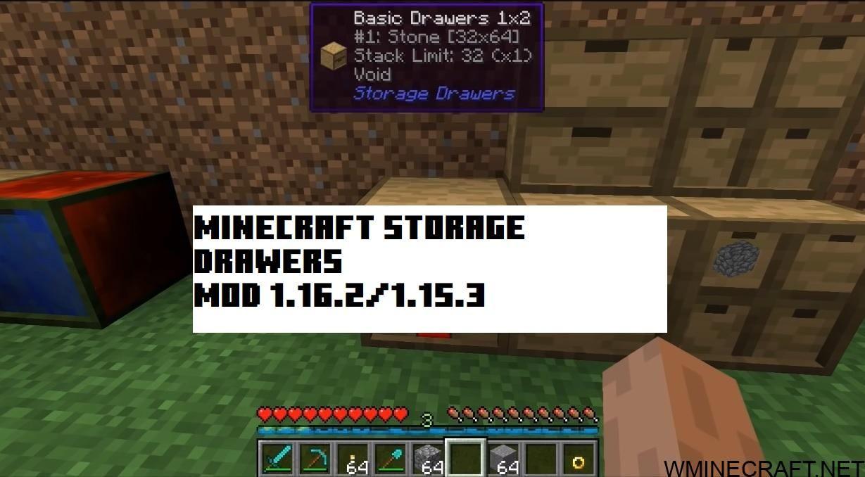 Minecraft Storage Drawers Mod 1 16 2 1 16 1 1 15 2 In 2020 Minecraft Storage Minecraft Mods Minecraft