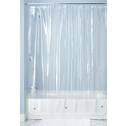Mdesign 10 Gauge Heavy Duty Vinyl Shower Curtain Liner 100 Waterproof Antibacterial Mildew Free Vinyl Shower Curtains Bathroom Shower Stalls Shower Liner