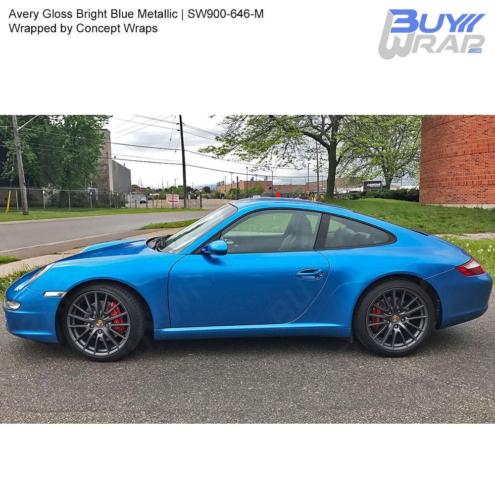 Avery SW900 Gloss Bright Blue Metallic Wrap SW900646M