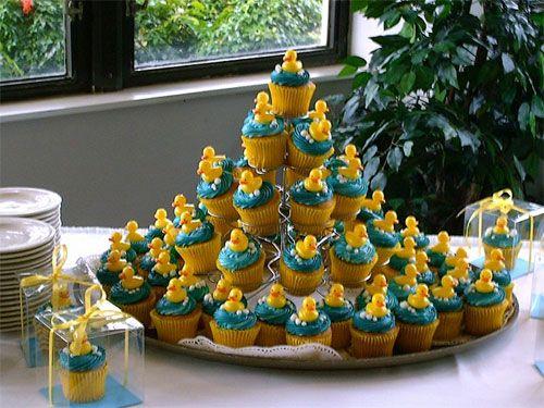 Rubber Ducky Baby Shower Centerpieces | Rubber Ducky Cupcakes