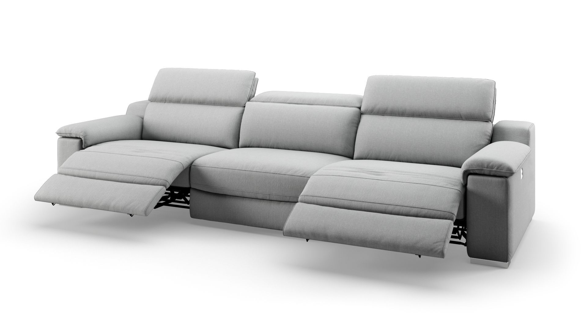 Macello 3 Sitzer Sofa Xxl White Sofa Living Room White Living Room Set Black And White Living Room