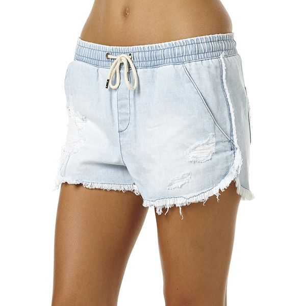 Billabong Drifters Womens Frayed Short ($52) ❤ liked on Polyvore ...