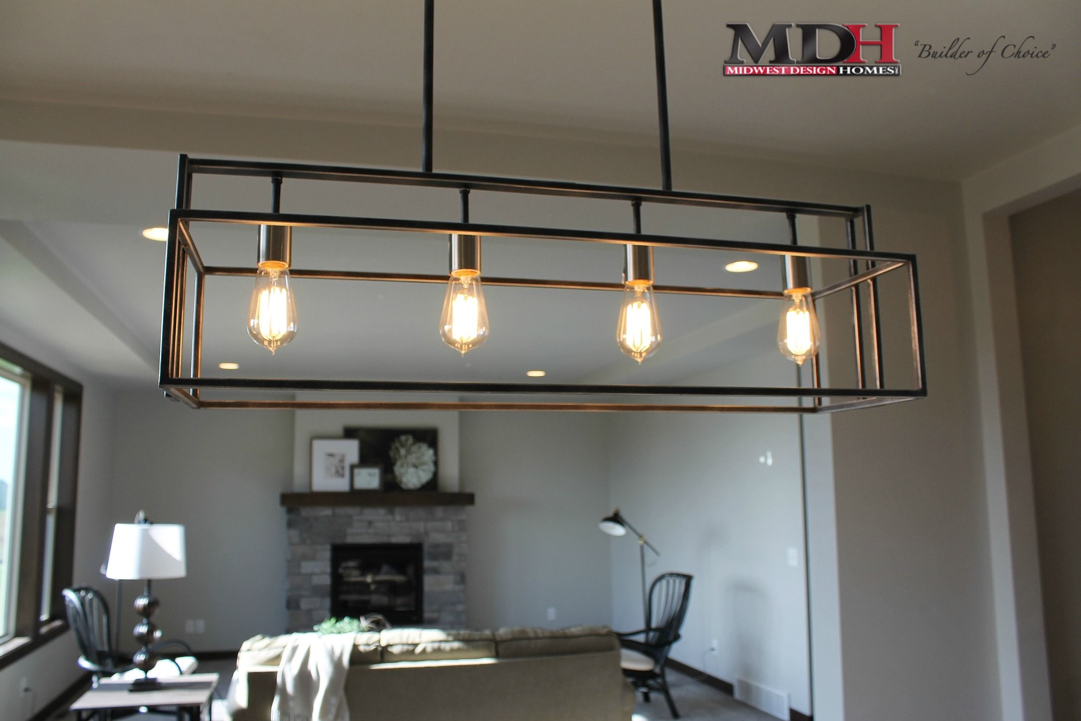 Pin By Midwest Design Homes On Mdh Featured Unique Lighting House Design New Home Builders Favorite Lighting