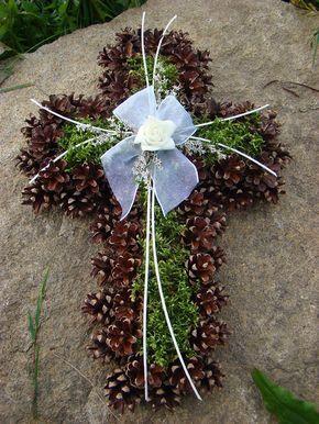 Srdce ze šišek II. / Zboží prodejce orchidejka shop | Fler.cz #friedhofsdekorationenallerheiligen