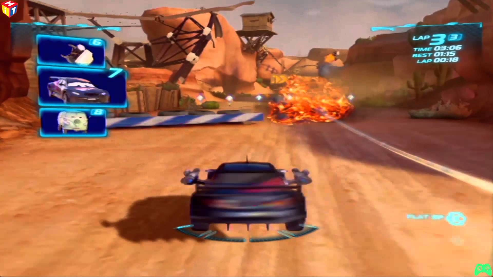 Cars 2 Max Schnell Canyon Run Battle Race