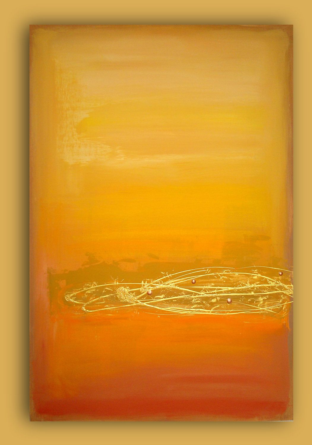 Modern Abstract WARM GLOW Yellow and Orange Original Abstract ...