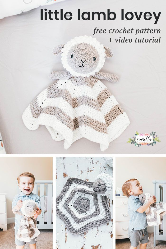 Crochet Little Lamb Lovey | Pinterest | Gender neutral, Crochet baby ...