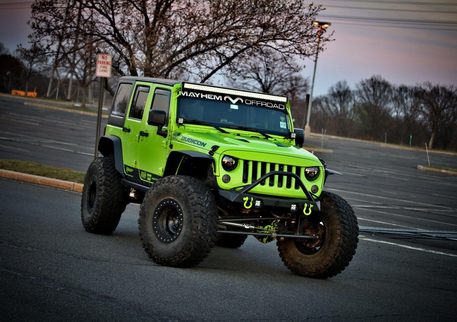 gecko green Jeep Jk feat our NightHawk Light Brow... Looks