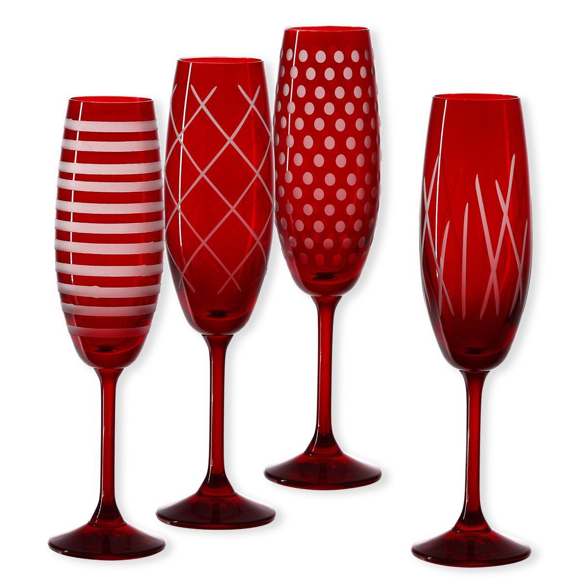 Noël rouge   Flûtes à champagne