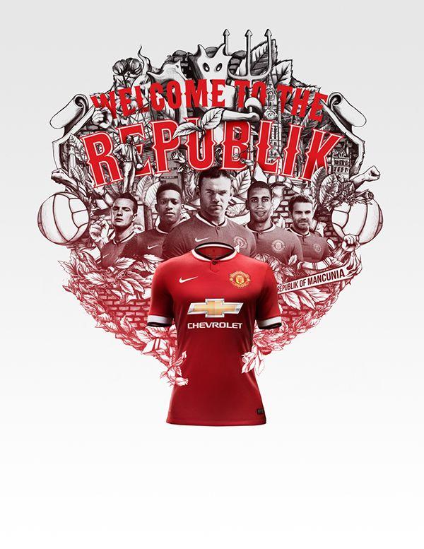 Nike Club Kit Illustrations Soccer Manchester United Digital Art Drawing Illustration Illustration Illustration Design Graphic Design Typography