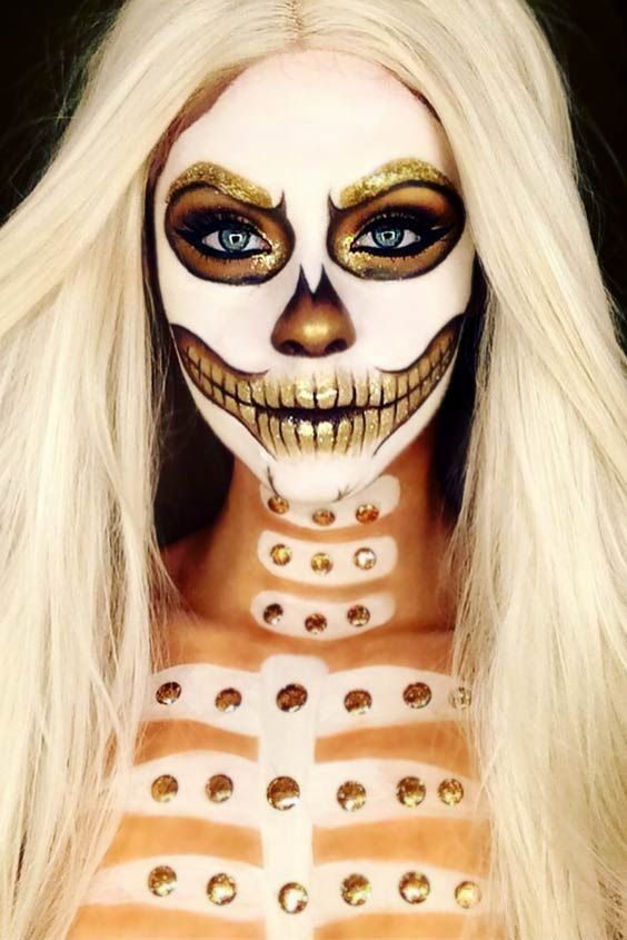 15 Jaw Dropping Halloween Makeup Ideas Halloween makeup, Makeup - face makeup ideas for halloween