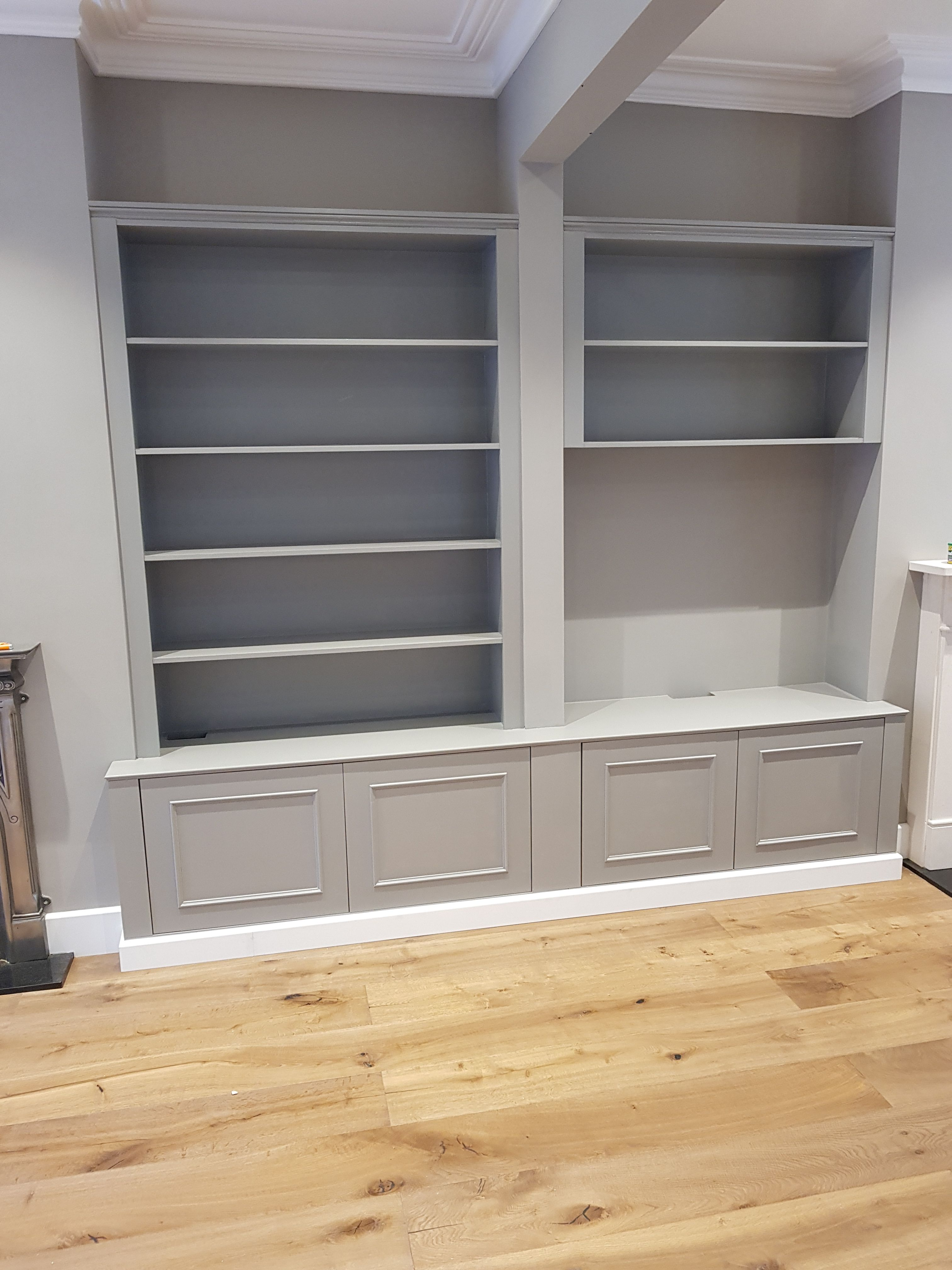 Best Victorian Alcove Work In Farrow And Ball Worsted Grey 400 x 300