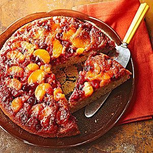 Invert this moist cake while it's still warm to reveal an autumnal kaleidoscope of glistening, tart berries and sweet mandarin oranges.