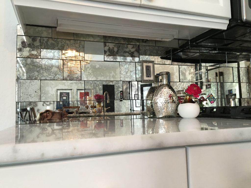 Antique Mirror Subway tiles for kitchen backsplash or walls. Custom ...