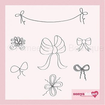 Hand Drawn Doodle Bows :: Doodles :: Clipart and Graphics :: Aimee Asher Boutique