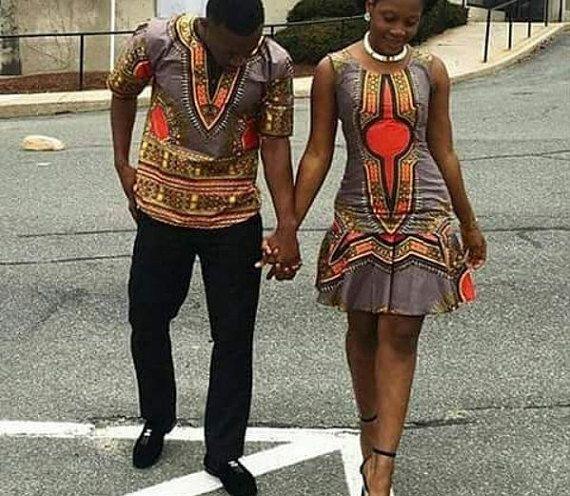 Ankara/dashiki couple africain tenue/nouveau mode/tendance couple ...