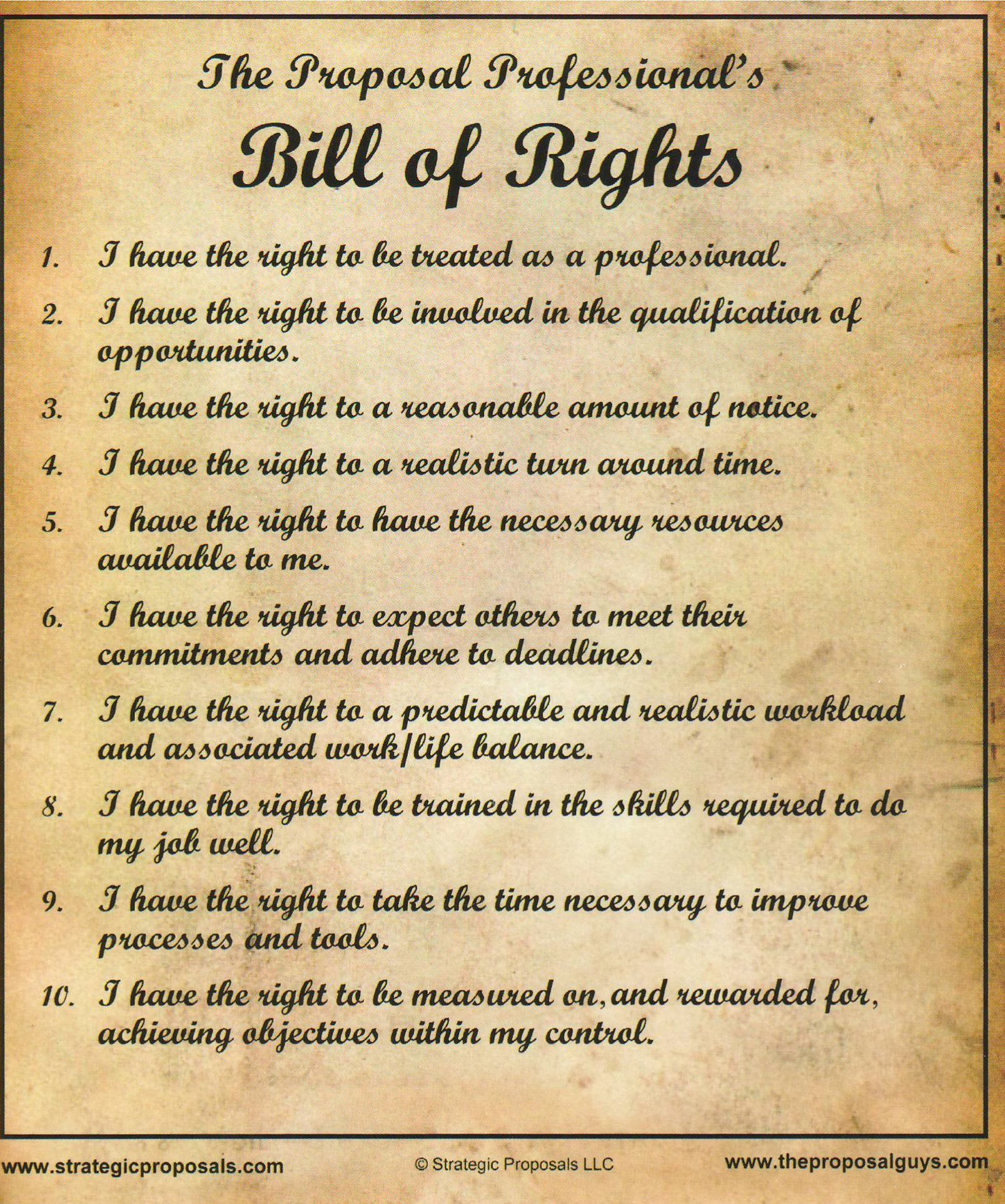 The Bill of Rights is a collective name for the first ten amendments ...