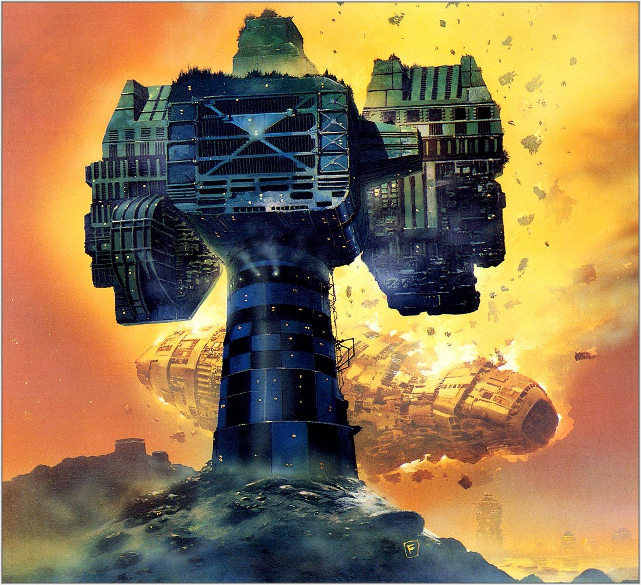 70s Sci Fi Art Chris Foss: Fantastik Worldz In 2019