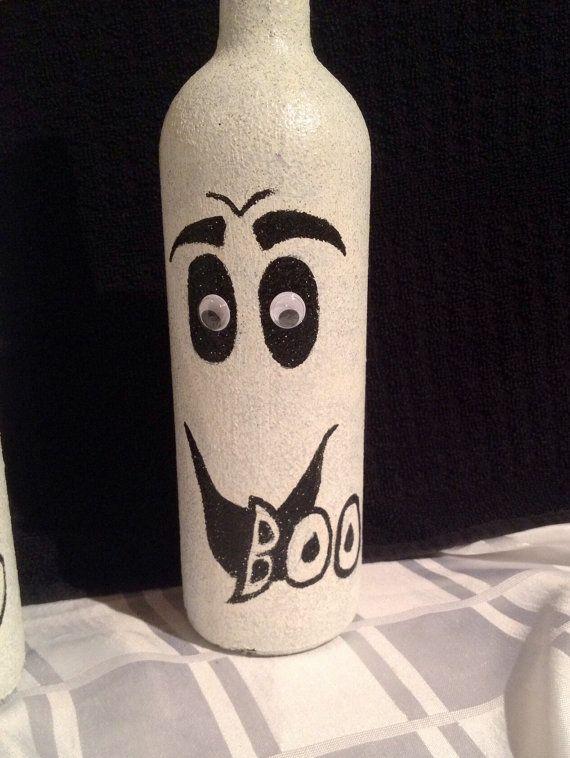 Halloween Ghost Decoration Wine Bottle Décor by BottlesofBling