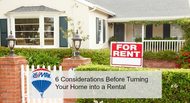 6 Considerations Before Turning Your Home Into A Rental Rent To Own Homes Rental Property Renting A House
