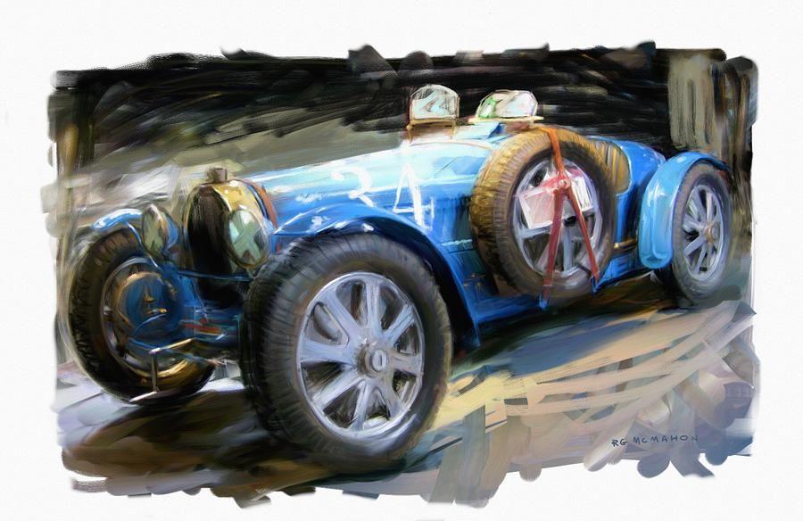 Bugatti Roadster Canvas Print Canvas Art By Rg Mcmahon Bugatti