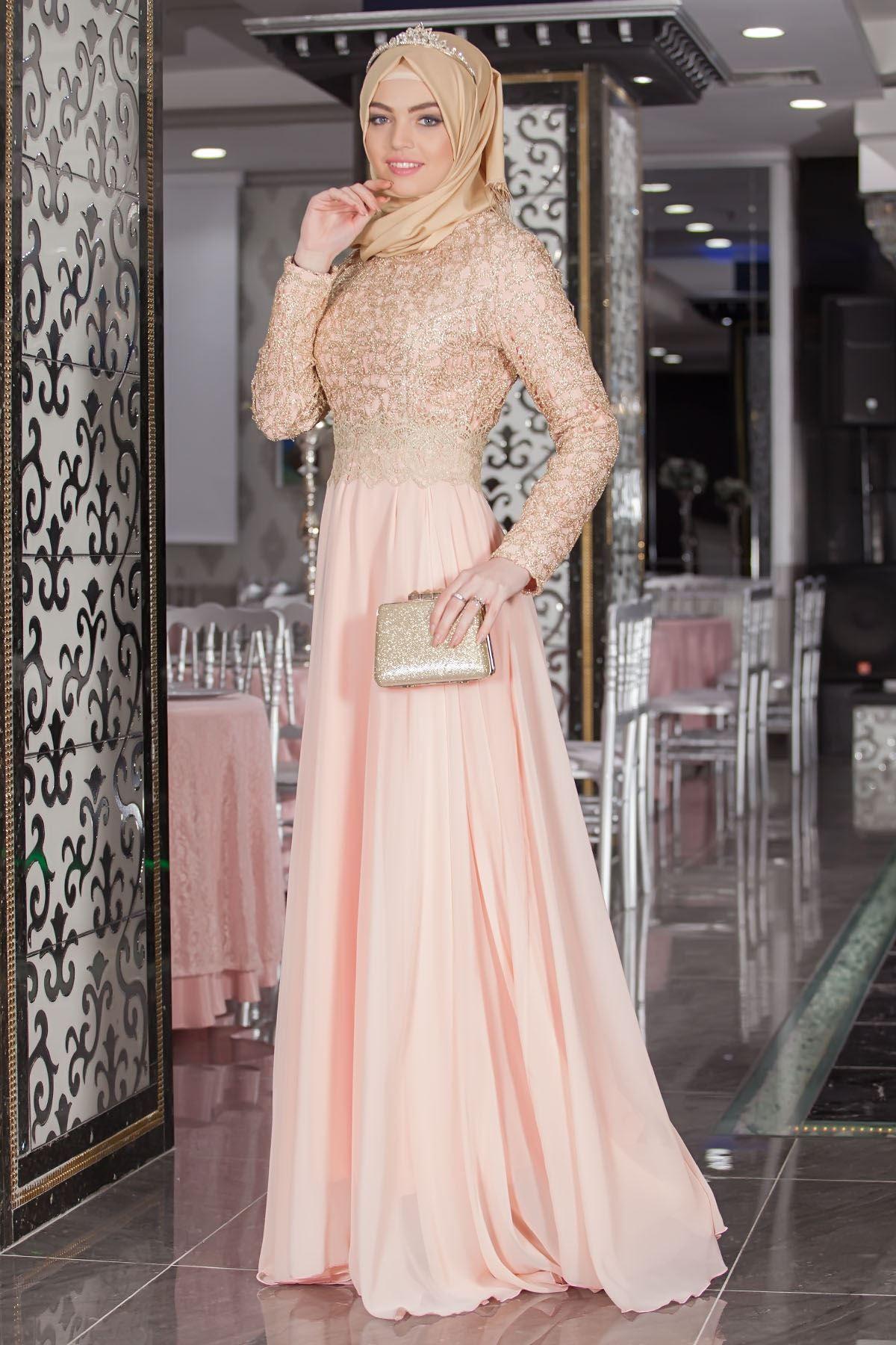 Excelente Vestido De Novia Turco Embellecimiento - Colección de ...