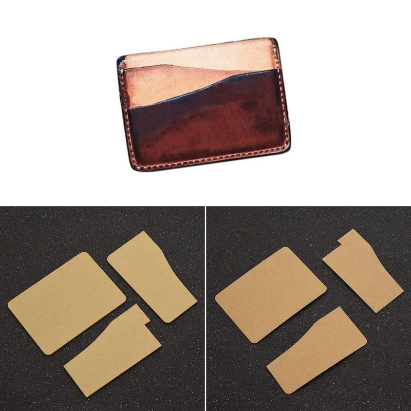 Diy card holder template leather craft wallet mould tool stencil leather pattern leather for Wallet card template