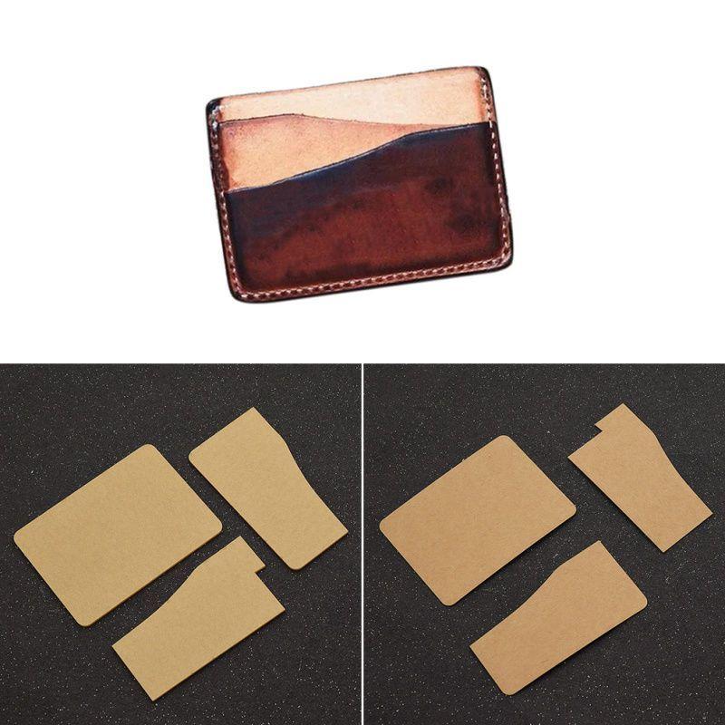 Diy Card Holder Template Leather Craft Wallet Mould Tool Stencil Leather Pattern Billetera De Cuero Patrones Portatarjetas