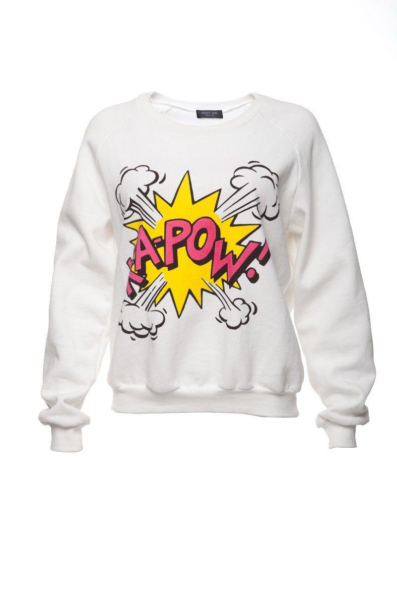 Front Row Shop Kapow Print Sweatshirt