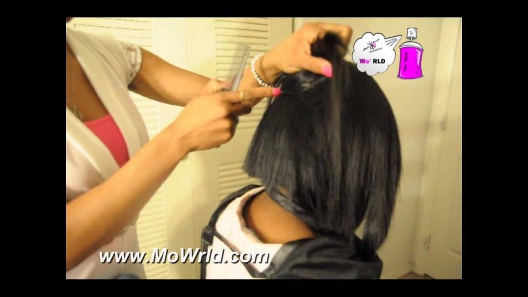 Quick Weave Bob With Invisible Part, No Leave Out [Video