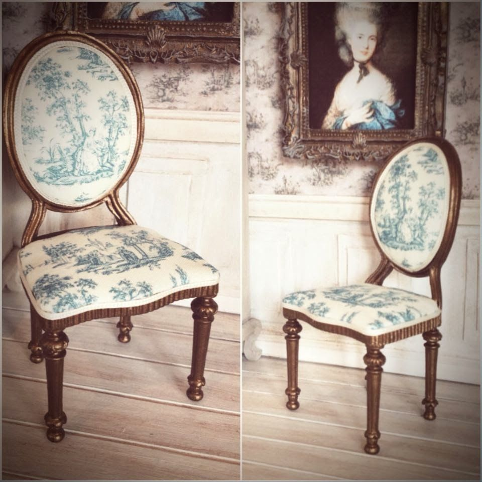 French chair by GypsyBoudoirMiniatures French chair by