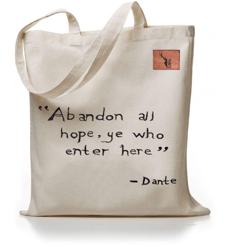 Dante / El Yapımı Bez Çanta Zet.com'da 59.90 TL