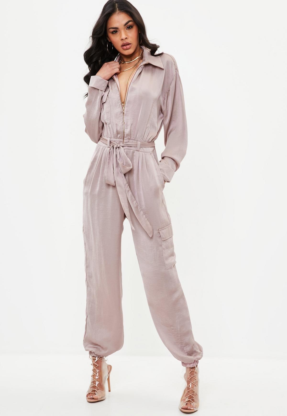 4792ed02701d Pink utility satin jumpsuit missguided style jumpsuit satin jpg 1200x1738  Mauve women satin jumpsuit