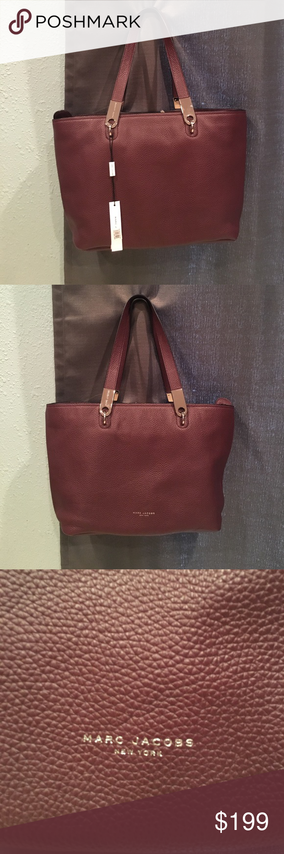 f4600255ba54 MARC JACOBS Pike Place East West Leather Tote Modern