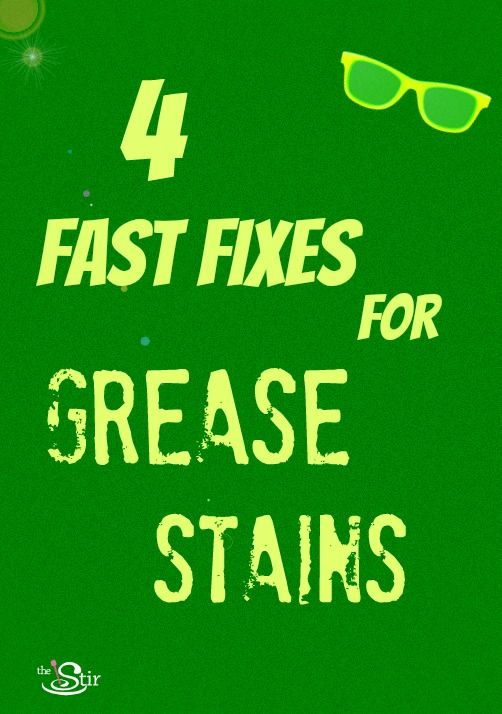 Because of COURSE kids always get grease stains at the barbecue -- easy fixes! http://thestir.cafemom.com/home_garden/104343/4_fast_fixes_for_grease?utm_medium=sm_source=pinterest_content=thestir