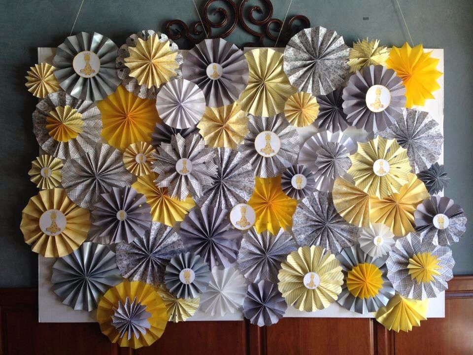 Paper Fan Backdrop Decorations Decoration
