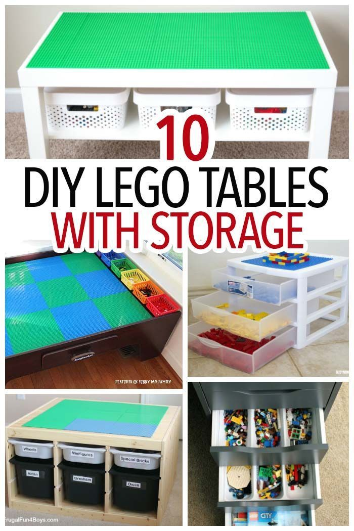 DIY Lego table   Lego Storage   Activity Table   Playroom table   Toy Storage   Organize Legos   Organize Toys   DIY project   Lego activity  sc 1 st  Pinterest & How to Make a LEGO Table with Storage: 10 Easy Solutions   Lego ...