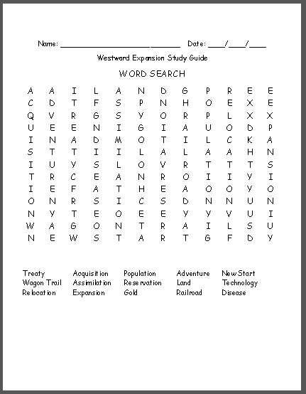 Westward Expansion VAAP 30 page UNIT & Assessment | High School VAAP ...