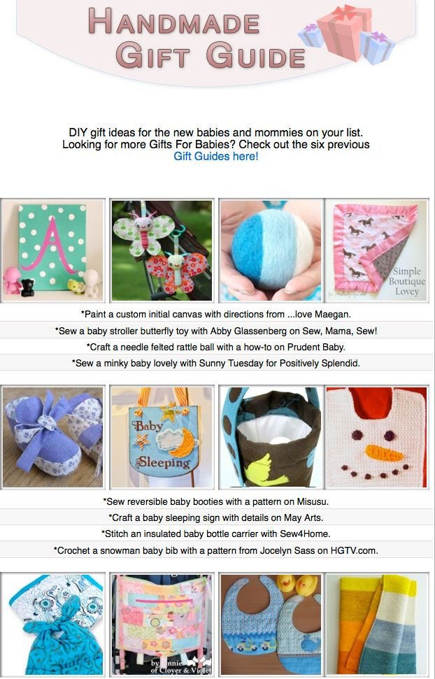 16 diy gift tutorials for babies and new parents diy for Diy presents for parents