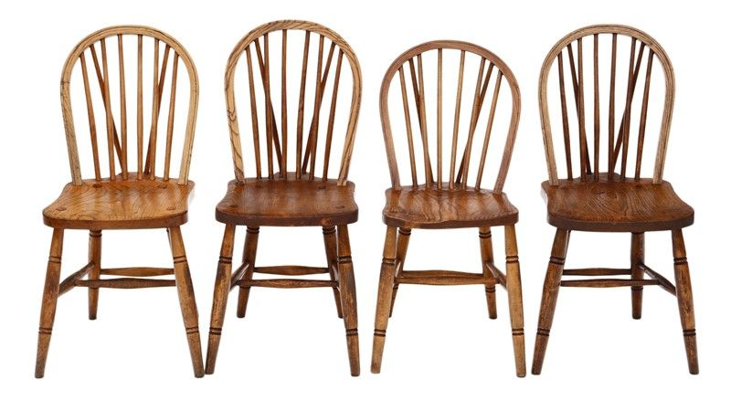 Best Set Of 4 Victorian Ash Elm Beech Dining Chairs Prior 640 x 480