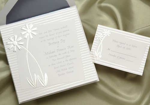 Very sweet and simple invite.