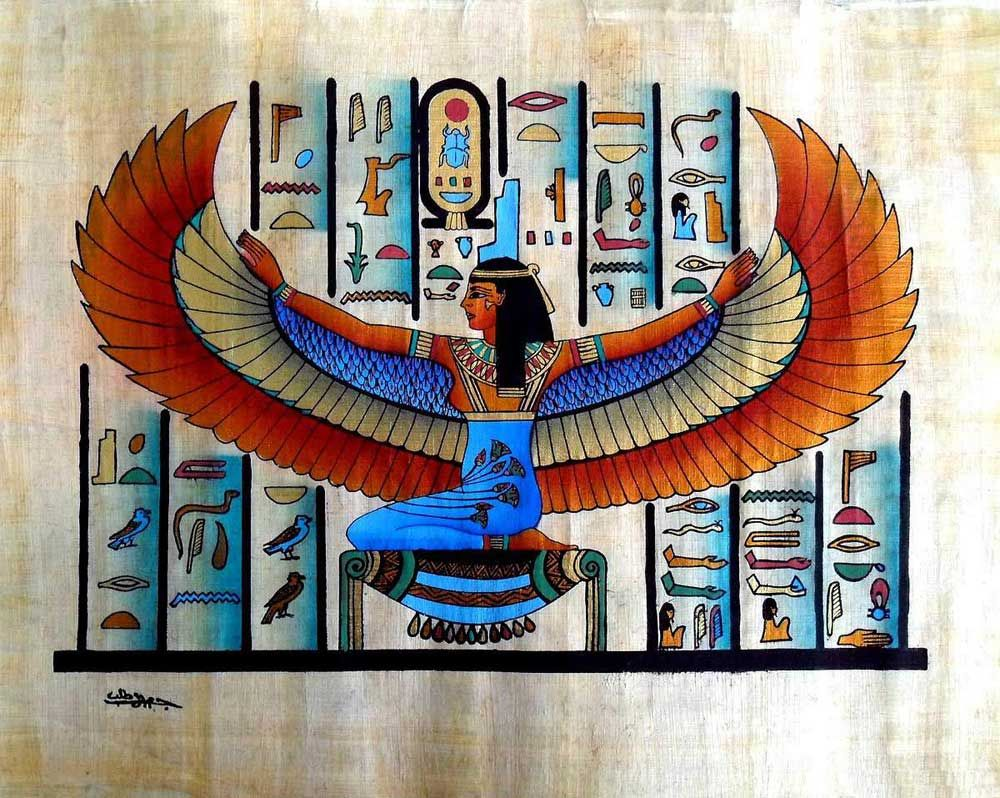 Egyptian papyrus paintingswinged goddess isis buy egyptian egyptian papyrus paintingswinged goddess isis buy egyptian papyrus paintingsegyptian papyrus art paintingancient egyptian papyrus paintings product on biocorpaavc