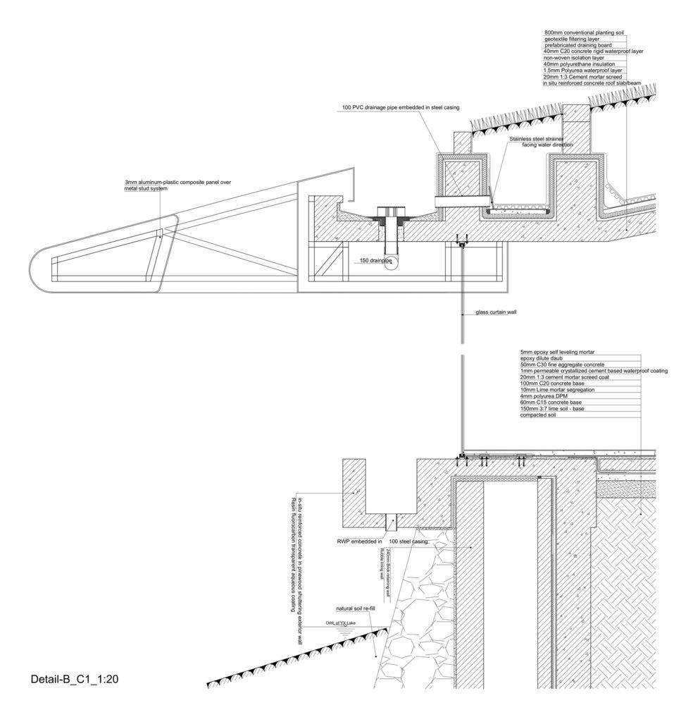 Galeria De 40 Detalles Constructivos De Arquitectura En Hormigon 42 Roof Design Gutters Architect