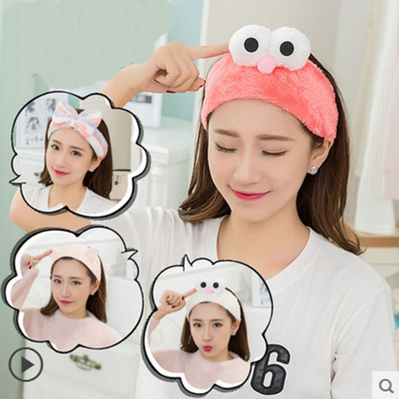Korean Style Wired Rabbit Ear Head Wrap Spa Headband Soft Towel